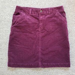 Merona plum corduroy size 8 skirt